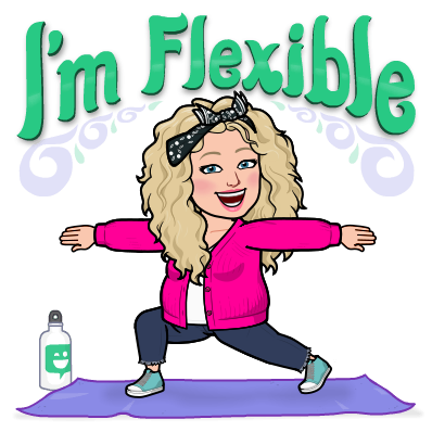 Alycia Yerves flexible bitmoji