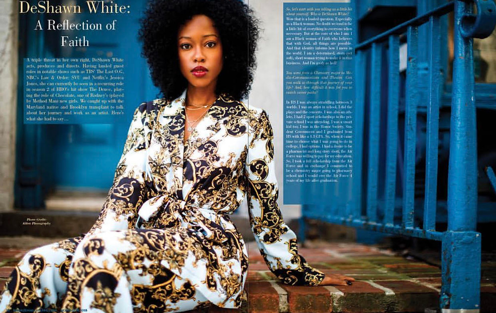 A recent Bronze Magazine article Bianca secured for actress client DeShawn White