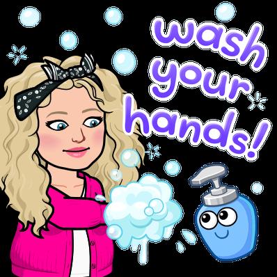 Alycia Yerves wash your hands bitmoji