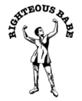 The logo for Righteous Babe Records, Ani DiFranco's record label.