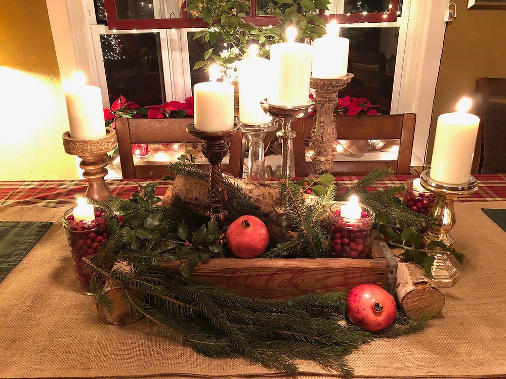 Alycia Yerves home Christmas decor 2017 dining room tablescape