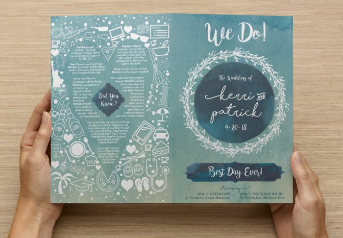 Kerri and Pat wedding program