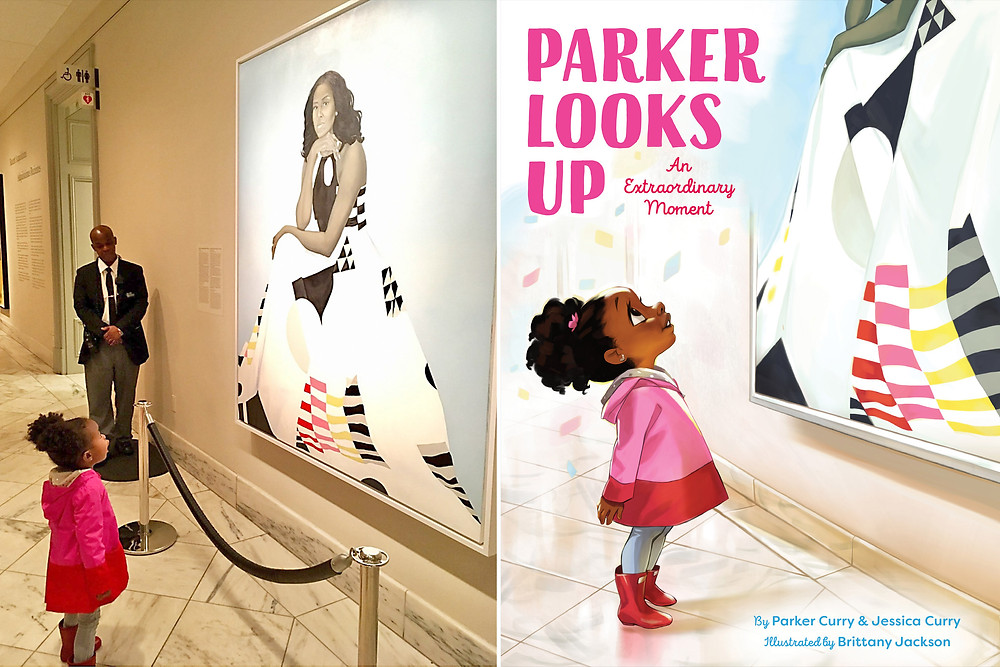 Parker Looks Up book cover, and the image that inspired it
