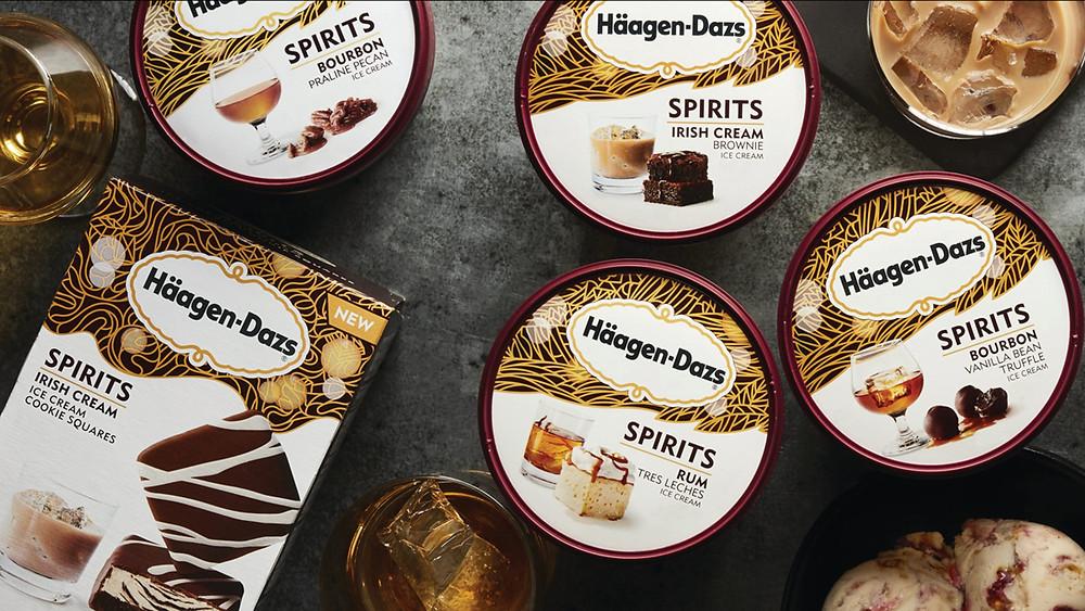 Alcoholic ice cream Haagen-Dazs