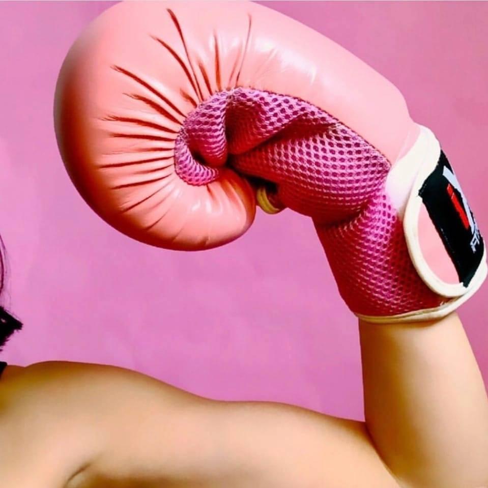 Pink boxing glove