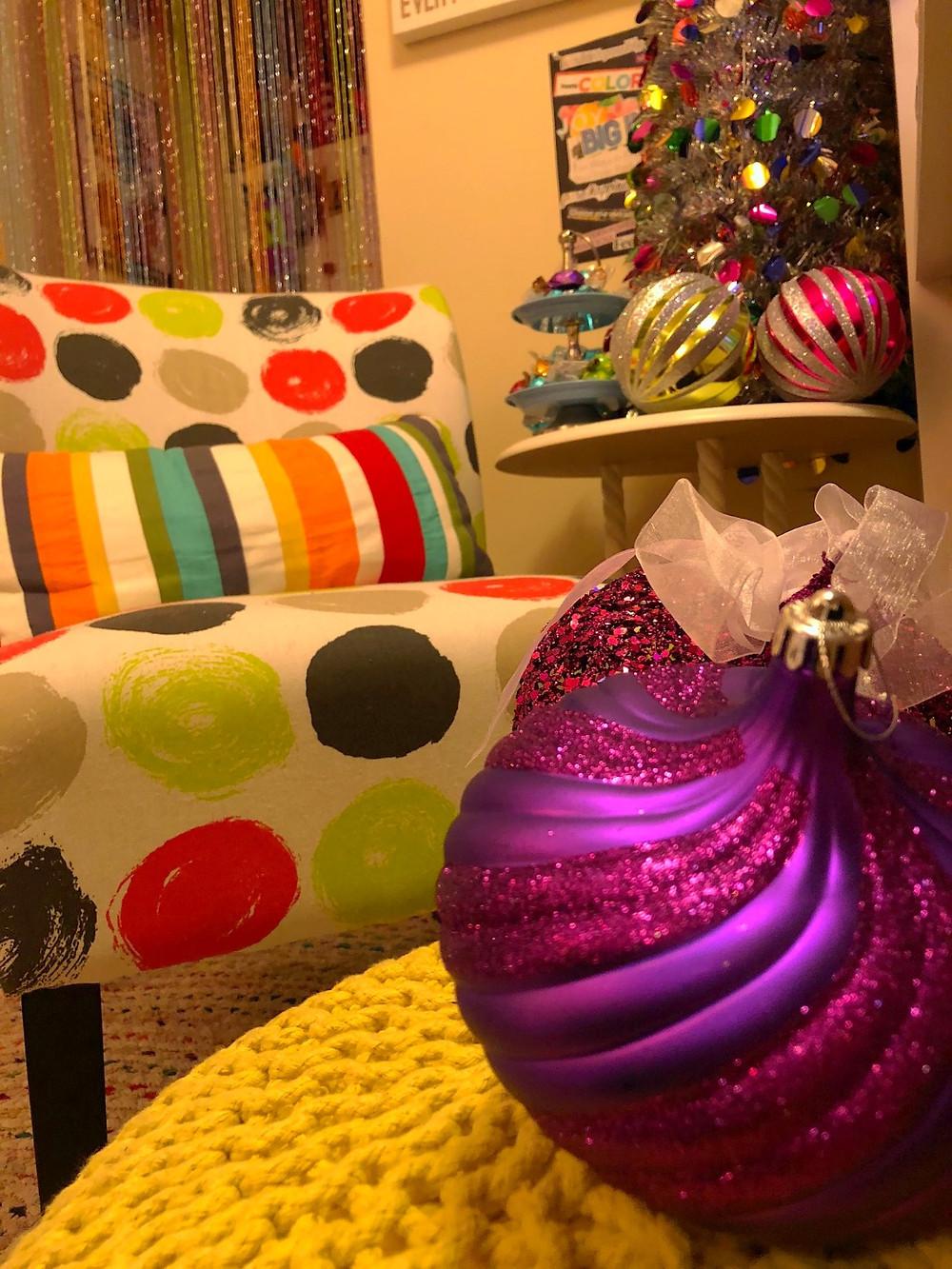 Alycia Yerves home office Christmas decor 2017 candyland