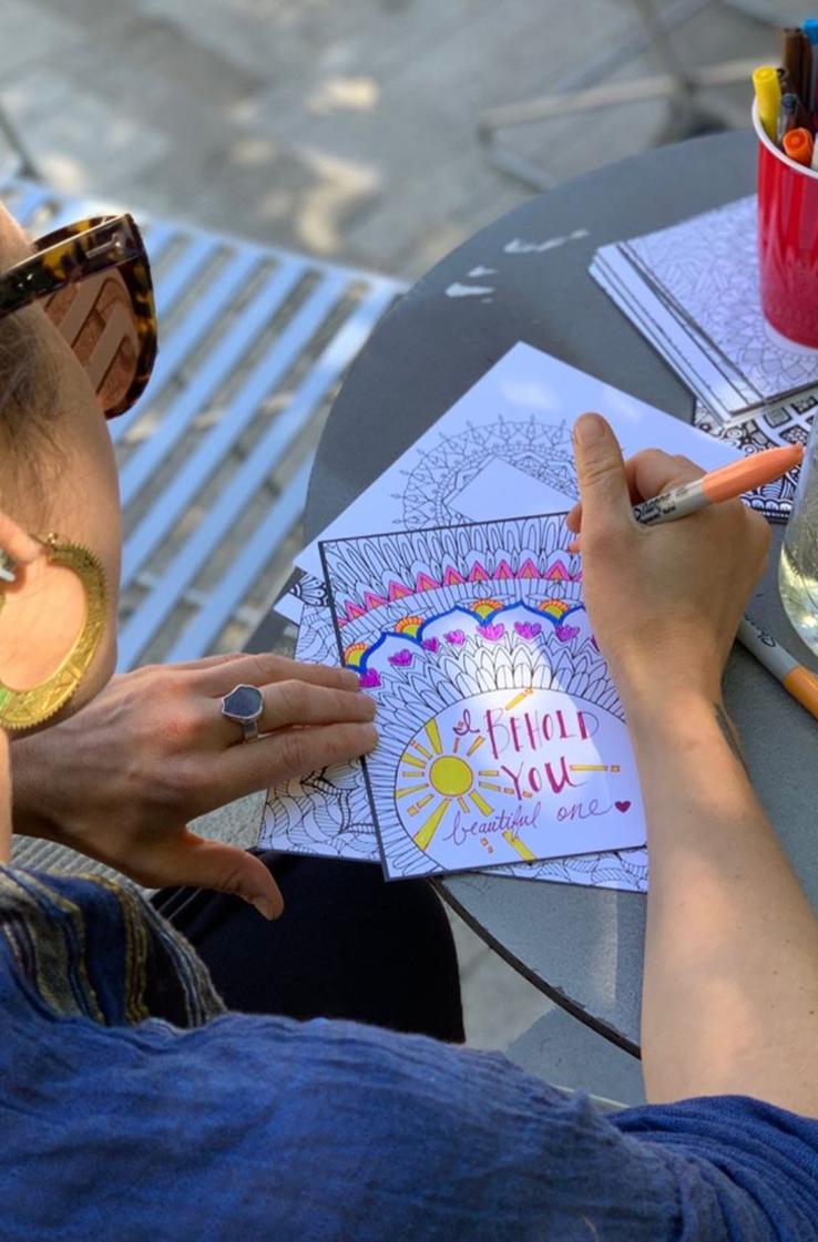 Coloring Broadway artist coloring