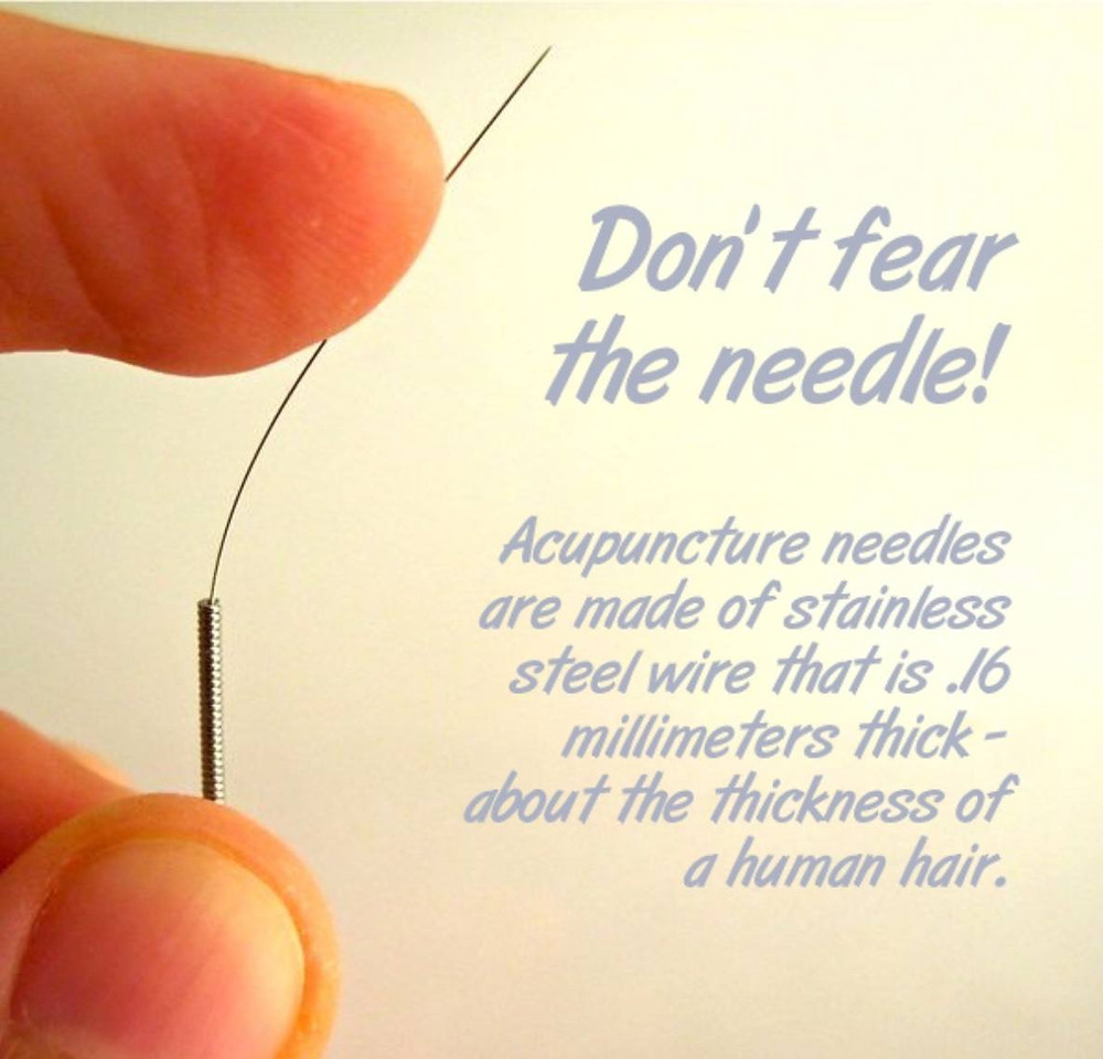 Don't fear the needle quote image from Katie's instagram feed
