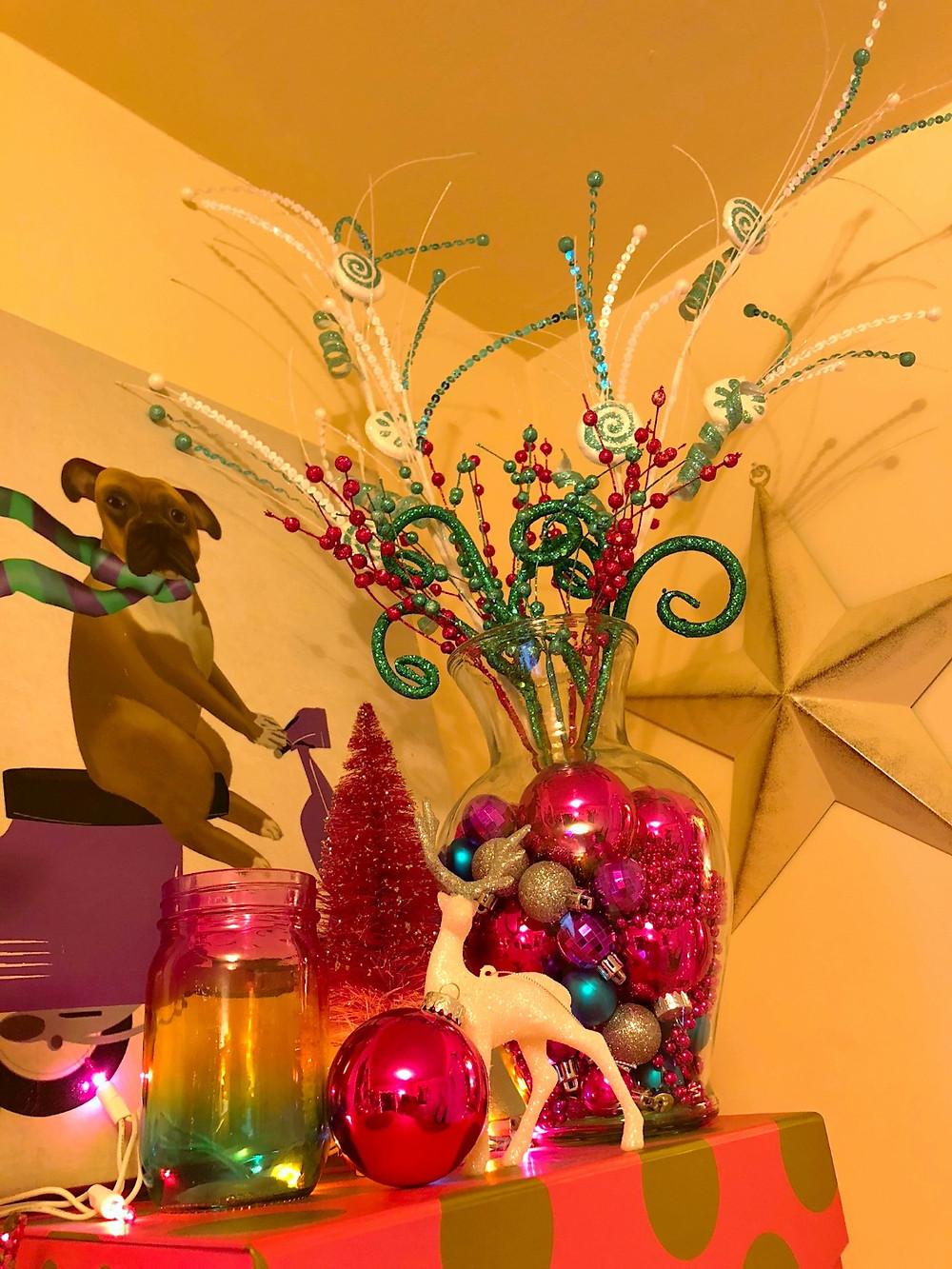 Alycia Yerves home office Christmas decor 2017 candyland knick knacks