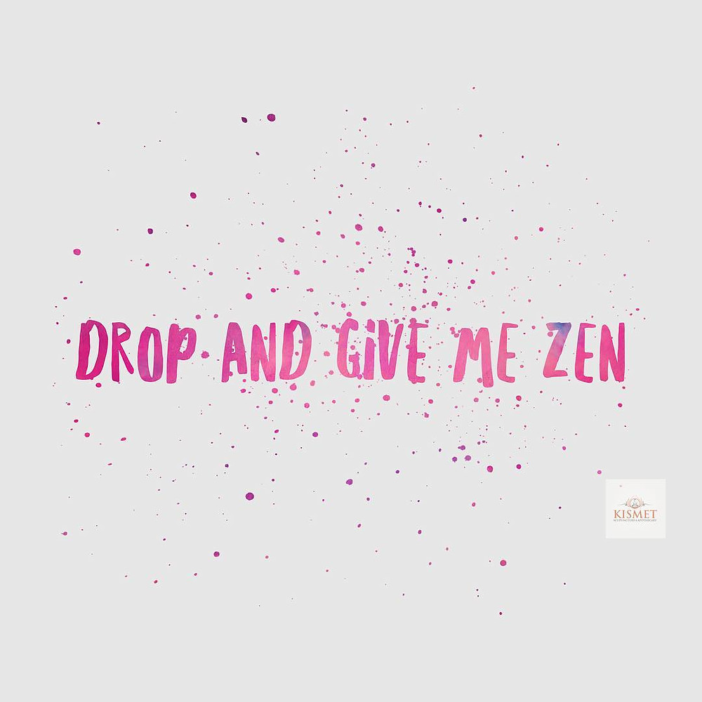 Drop and give me zen quote image