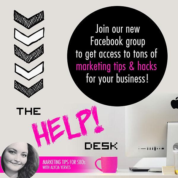 The Help Desk facebook group promo