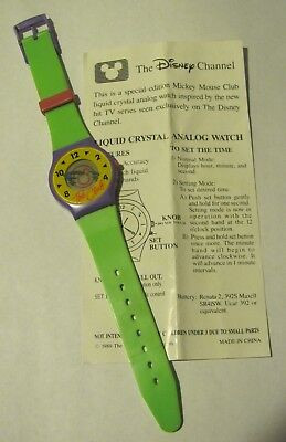 The Disney Channel liquid crystal analog watch