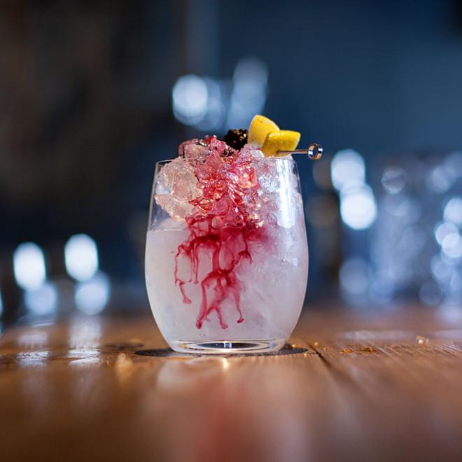 A Bramble cocktail