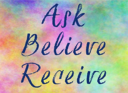 Ask Believe Receive quote image