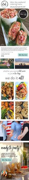 et al fine food - email design