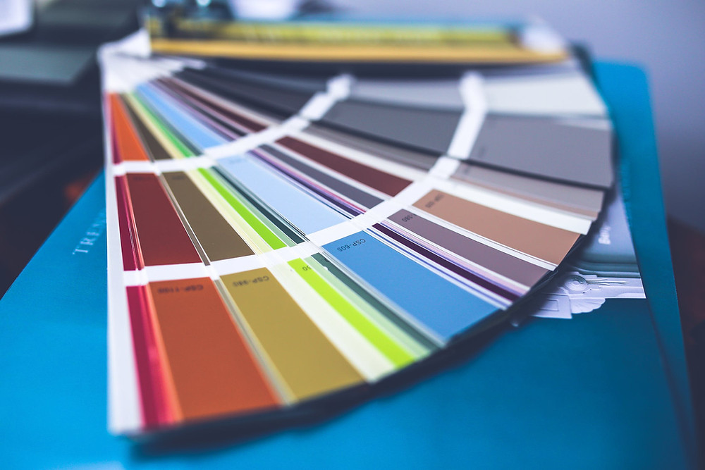 Picture of paint color sample strips