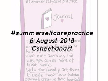 Journalling summer - summer selfcare practice 6 August 2018