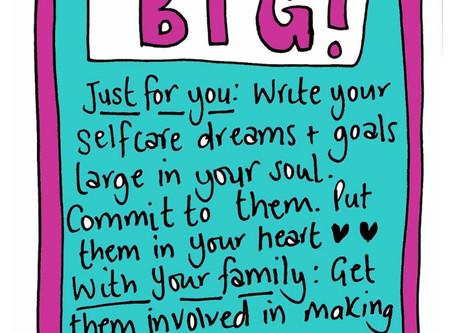 Write it big - creating goals that matter self care invite 15 October