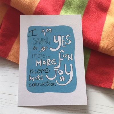 saying yes to joy