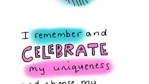 Self kindness is your unique fingerprint - a self kindness Blessing