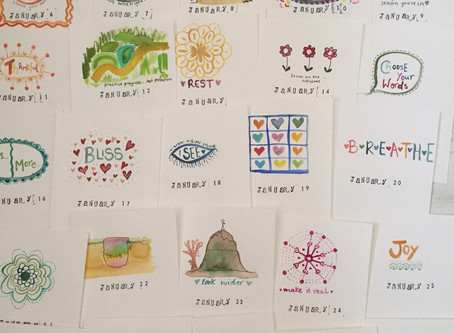 Flow, allowing unfolding and what I learnt about my own self care in January
