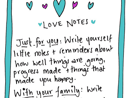 Little love notes to the soul - summer selfcare practice 13 August