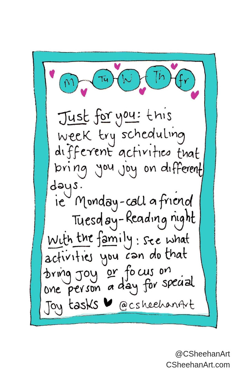 Self kindness invite - days of the week