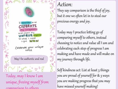 Celebrate your unique voice - Day 3 Self Kindness Invitation