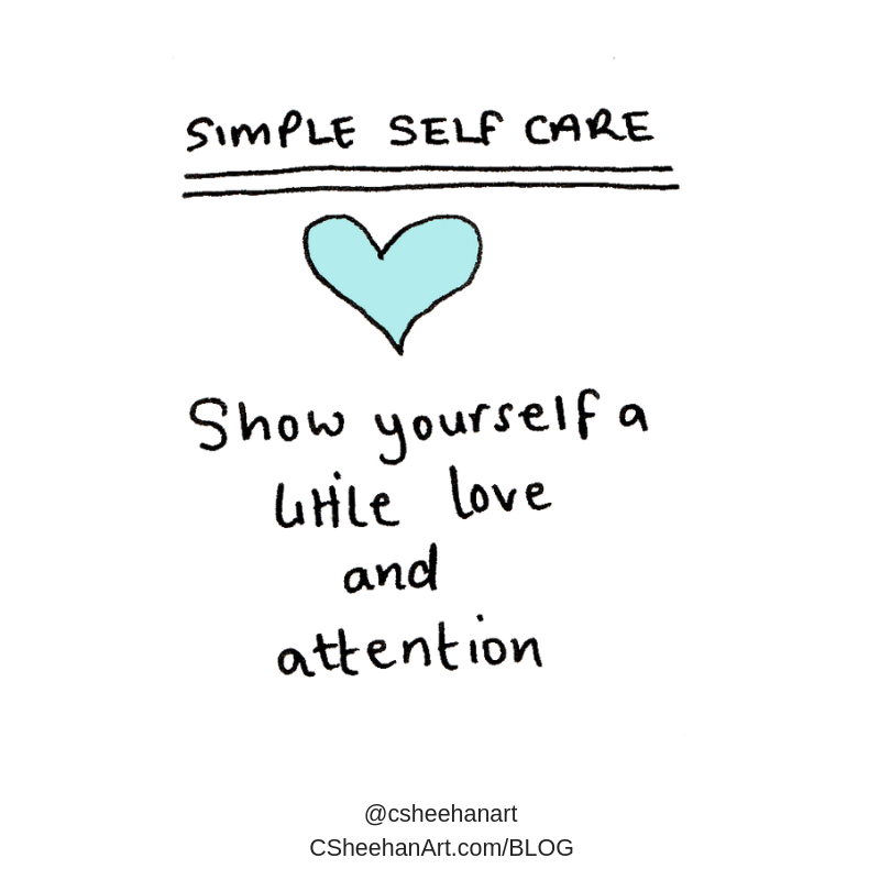 simple selfcare love and attention