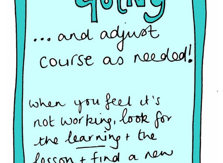 Keep going - adjust as you need - selfcare invite 5 November