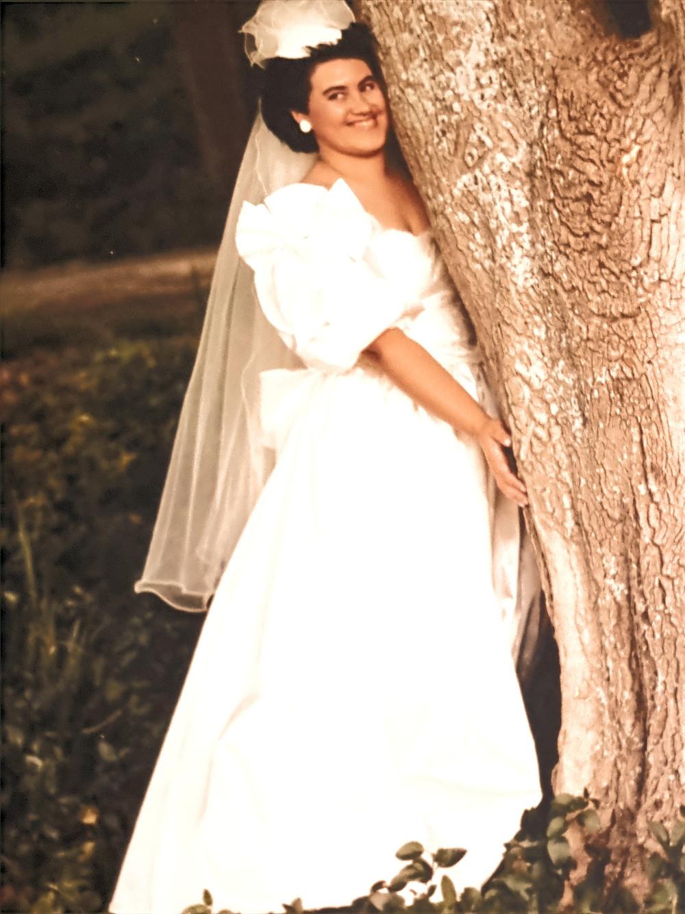 Sandra Groves on her wedding day