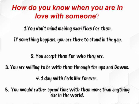 How Do You Know That You Are In Love With Someone?