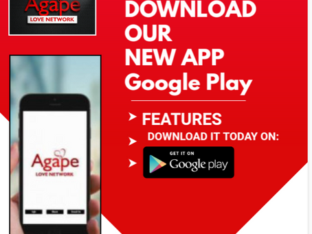 New Agape Love Network App:Now Available
