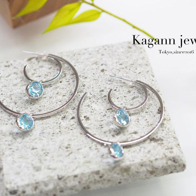 double Moon Hoop pierced-errings
