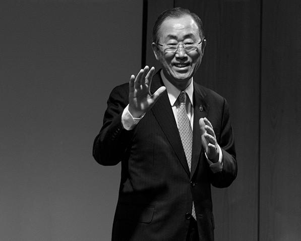 M. Ban Ki Moon - Secrétaire Général de l'O.N.U. (2010) Portrait Officiel pour le Festival Millenium, Bruxelles