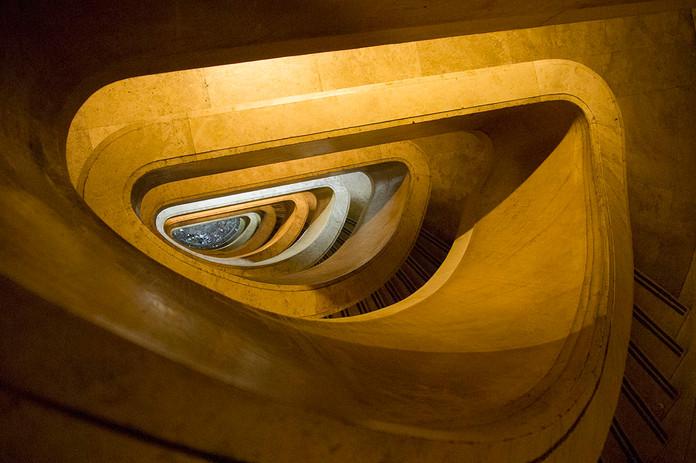 Monumental stairs Banco Nacional de Argentina (Buenos Aires)