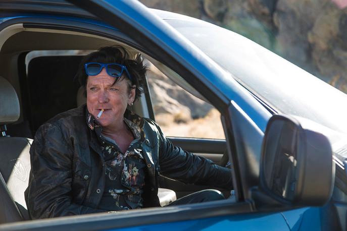 Michael Madsen sur le tournage de TRUNK