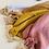 Thumbnail: Lange de dentition en gaze de coton a pois doré