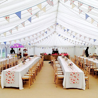 Ideal for a marquee, our Summer Breeze bunting is an enchanting assortment of florals, stripes and polka dots.