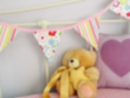 Retro Floral bunting is a stunning mix of vibrant stripes and flower printed flags...