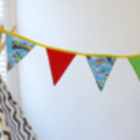 If your little one loves trains, then this is the bunting for them...