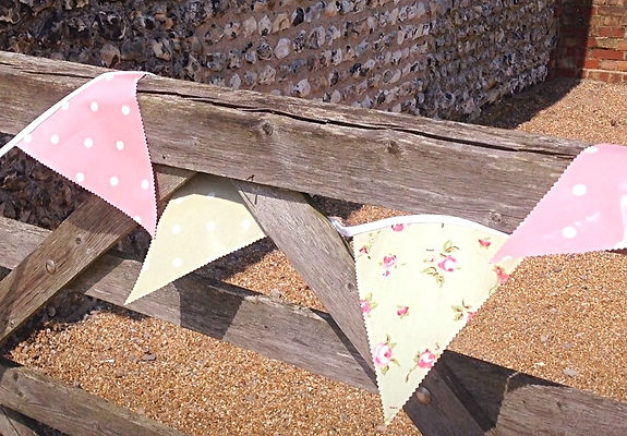 Sage Green and Pink Outdoor Bunting