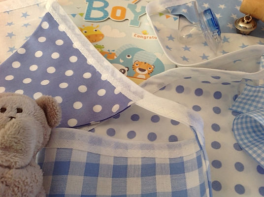 Treat your little boy to some charming pale blue bunting...