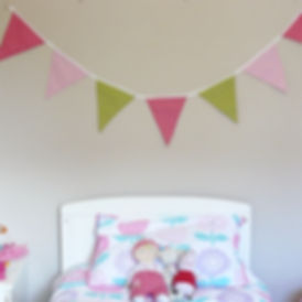 Our Lime Pink Fizz bunting is a fabulous mix of greens and pinks...