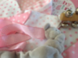 Treat your little girl to some charming pale pink bunting...