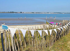 Sea Mist is a lovely pale blue bunting, ideal for a seaside setting.