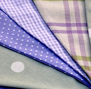 Lilac Wine is a charming blend of green and lilac bunting flags.