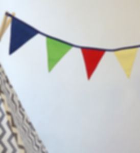 For a really fun and bright addition to a child's bedroom, choose our Rainbow bunting...