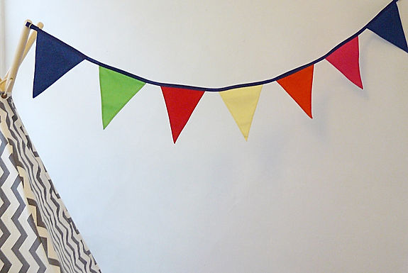For a really fun and bright addition to a child's bedroom, choose our Rainbow bunting....