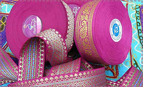 With its rich fabric and gorgeous ribbon trim, our Indian bunting would be ideal for a yurt or tipi.